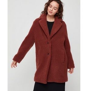 Aritzia Wilfred Free The Teddy Cocoon Coat